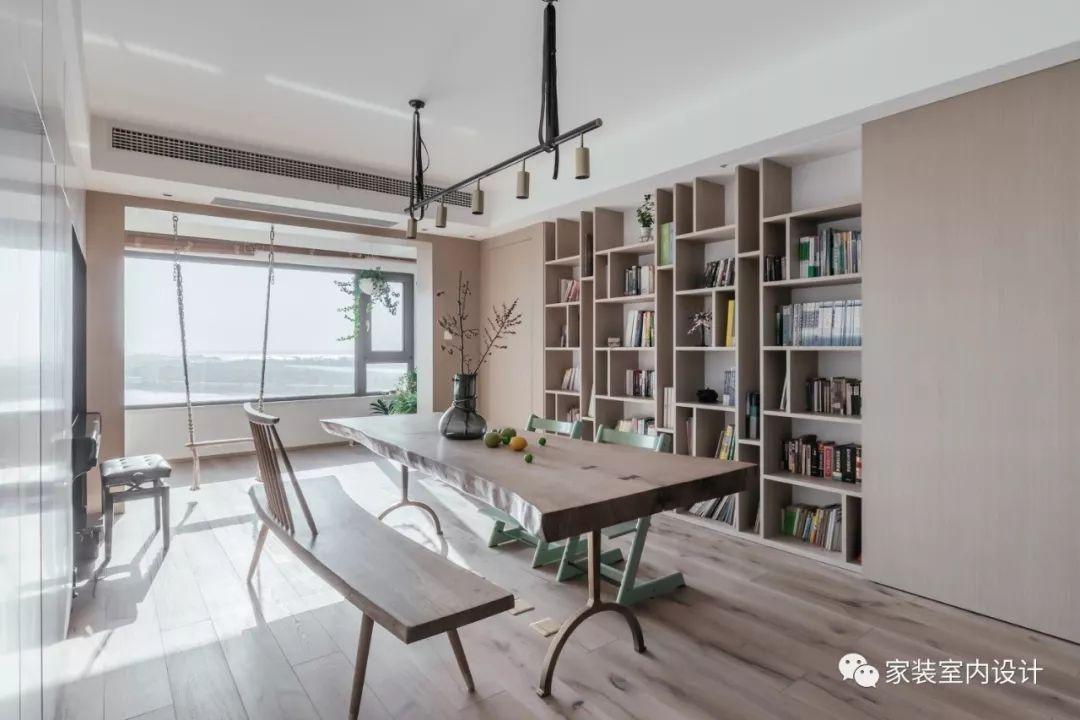 190m²清素文雅简约风,客厅改成亲子空间,陪她成长!